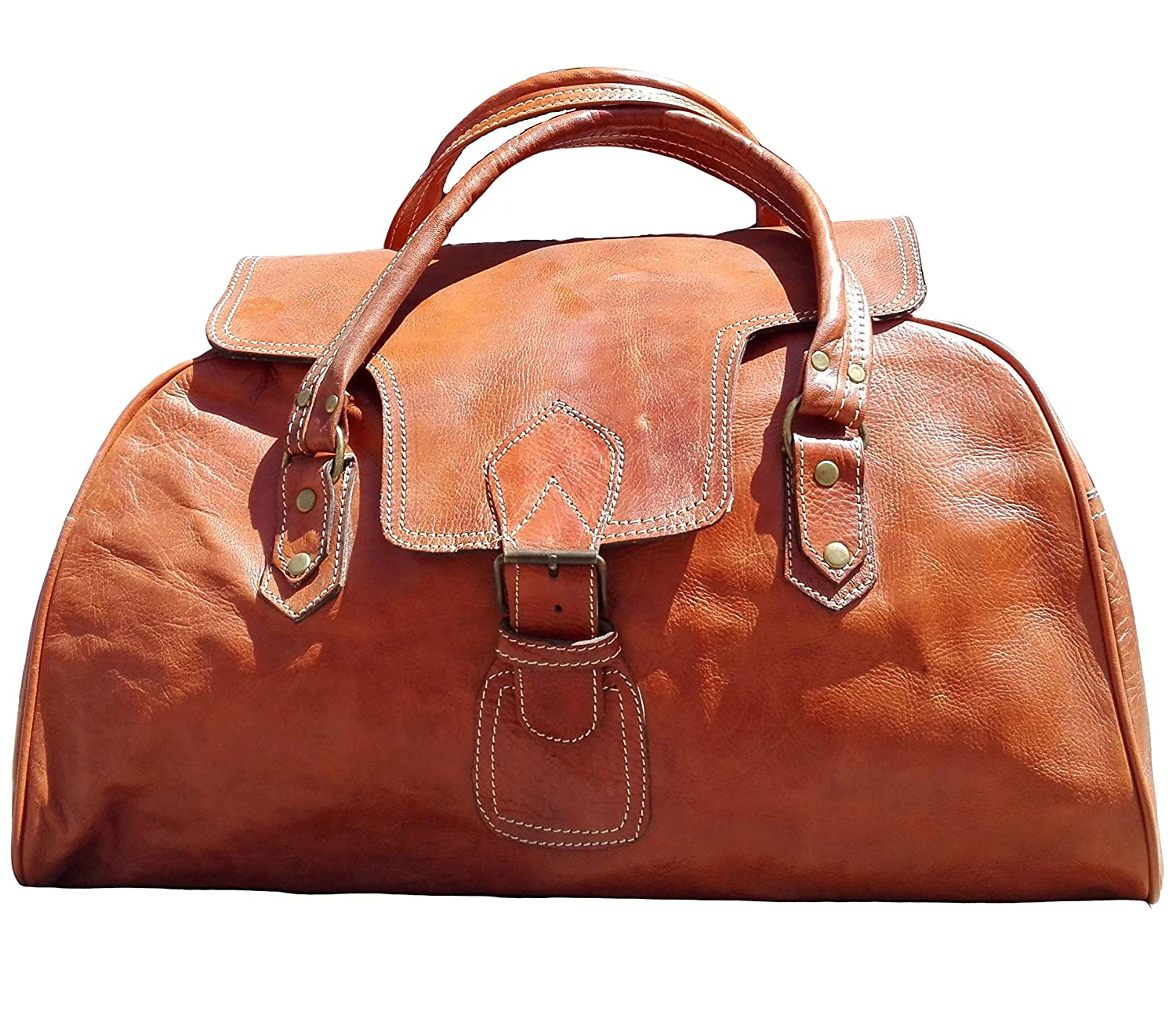 Bag Leather Travel Men Luggage Gym Duffle S Handbag Large Vintage Overnight New