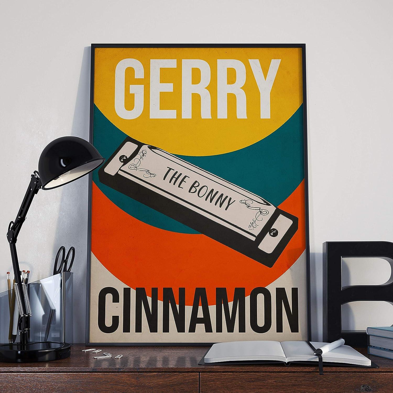 GERRY CINNAMON The Bonny Retro Style Poster