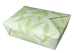 Fold-Pak Bio-Pak 03BPNATURM Inspired by Nature Print Paper Carry-Out/to-Go Container, 7-3/4