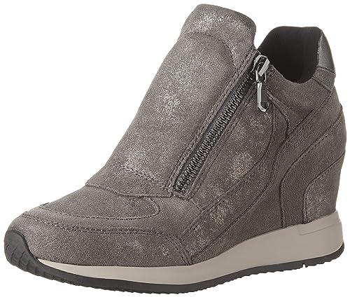 Geox D620QA 07722 C9002 Zapatilla de Deporte con cuña Interior colección de Invierno otoño Gris Oscuro 2017 2018: Amazon.es: Zapatos y complementos