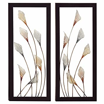 Amazon.com: Urban Designs Bloom Large Hand-Crafted LED Lighted Metal ...