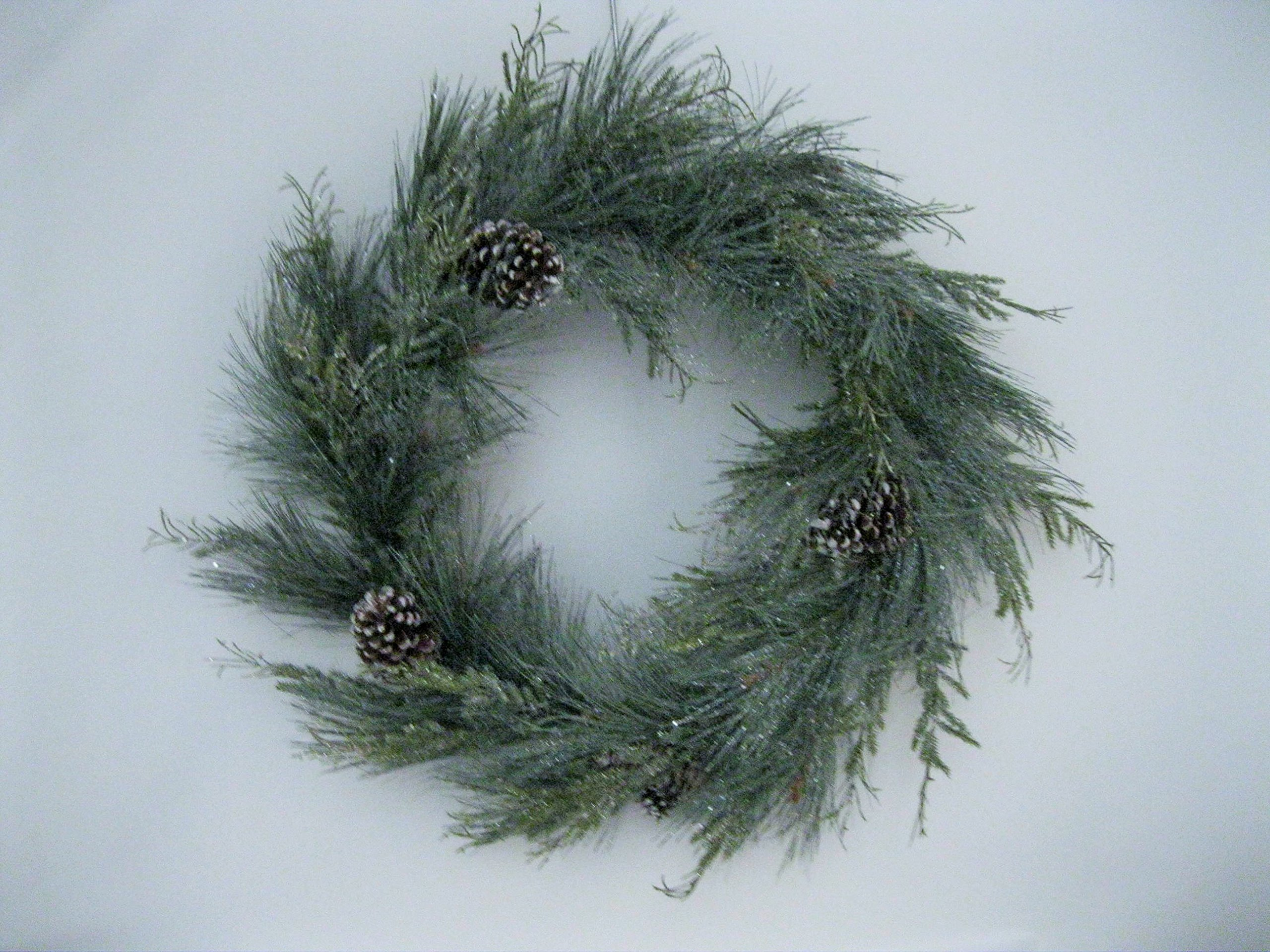 Christmas 11'' Candle Ring/Mini-Wreath''Aurora Pine''