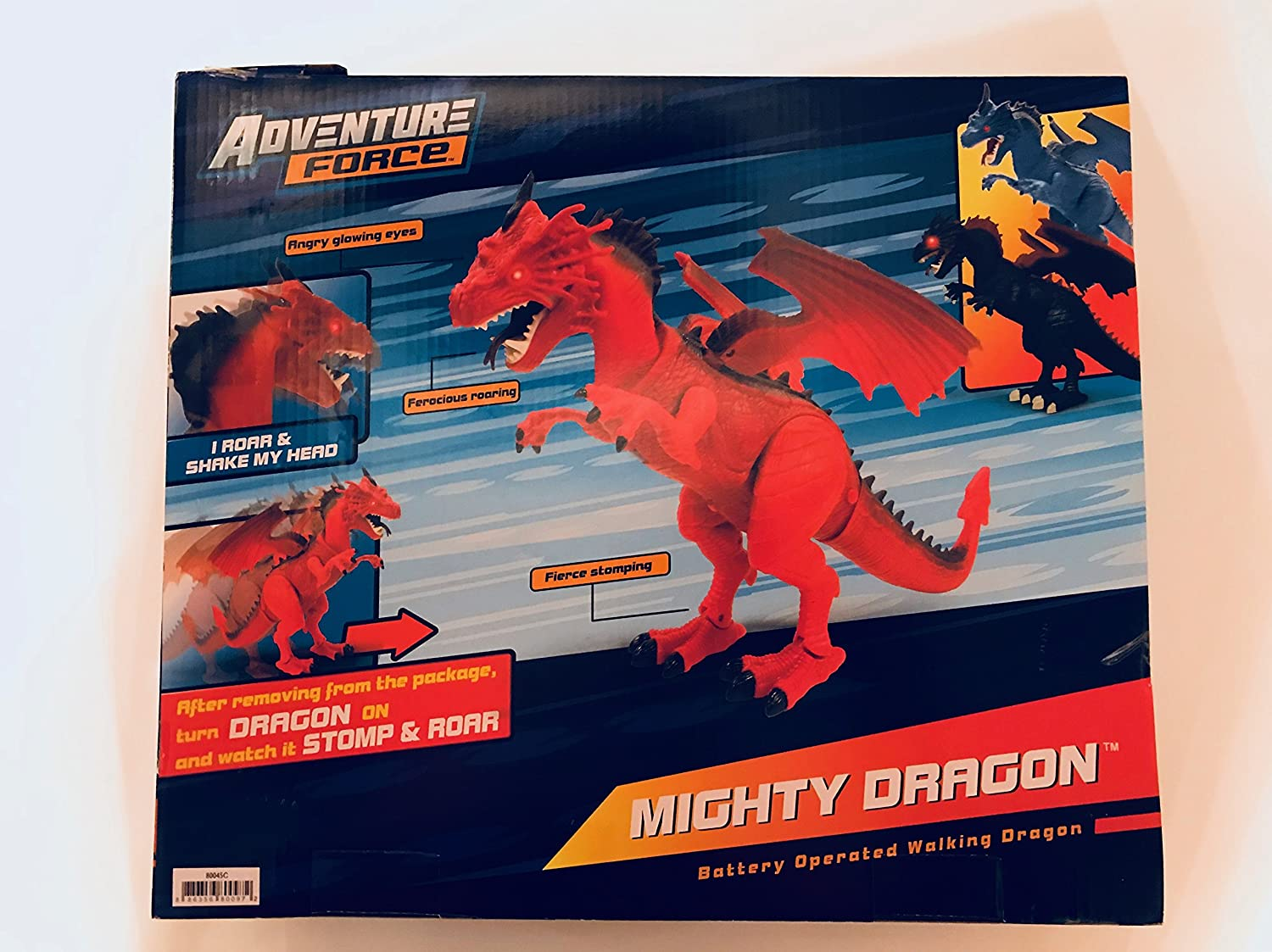 amazon com adventure force mighty mighty dragon blue toys games