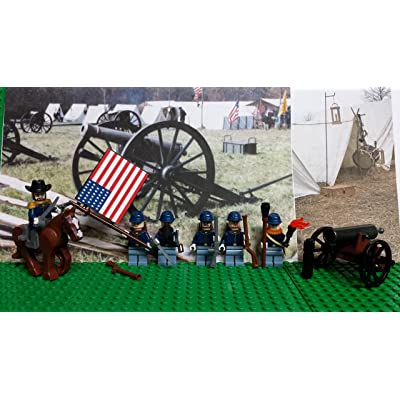 LEGO Civil War Union Army! Northern Army of The Potomac with General Ulysses S. Grant: Toys & Games