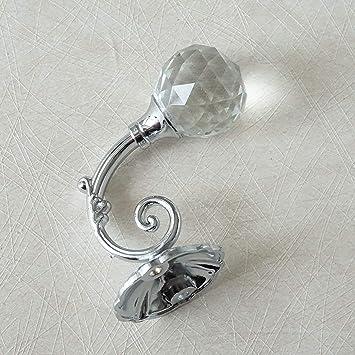 lbfeel perchero de ganchos de pared ganchos de cristal ...