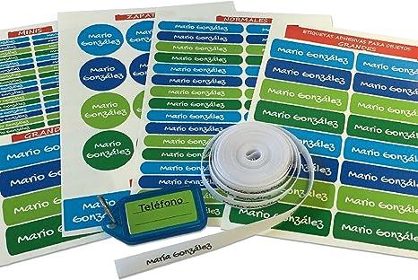Pack de 146 etiquetas para marcar ropa y objetos. (Paleta 5) 50 ...