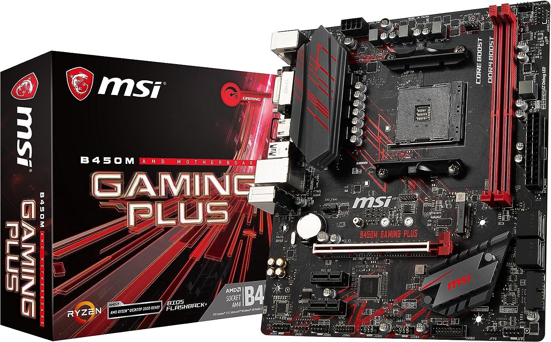 Msi B450 M Gaming Plus Am4 Ddr4 Hdmi Dvi D 1x Computers Accessories