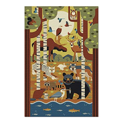 Forest Animals - Geometric (Premium 1000 Piece Jigsaw Puzzle for Adults, 20x30, Made in USA!): Toys & Games