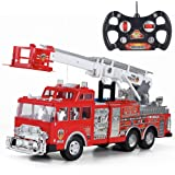 """20"""" Jumbo R/C Rescue Fire Engine Truck Remote Control Toy with Ladder"""