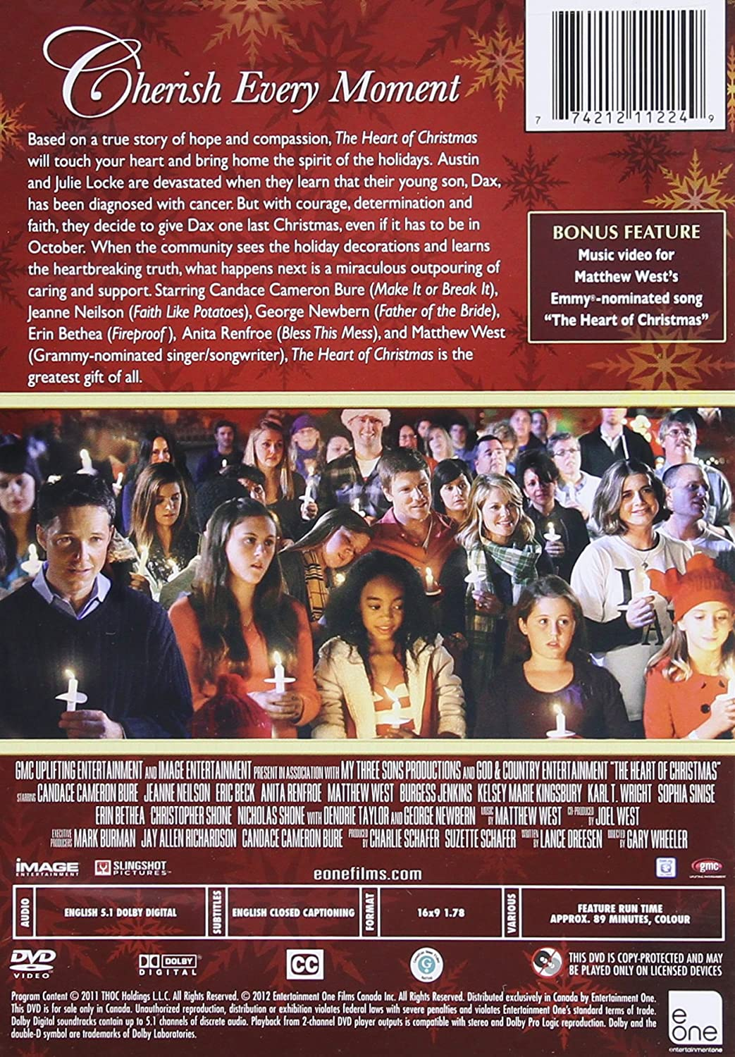 amazoncom heart of christmas candace cameron bure jeanne neilson erin bethea george newbern matthew west gary wheeler movies tv