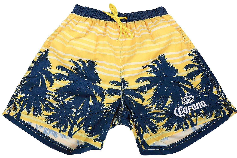 7c9d67af6f Corona Boardshorts Summer Beachwear Surf Swim Hawaiian Cruise Palms Shorts  (Medium, Navy): Amazon.ca: Clothing & Accessories