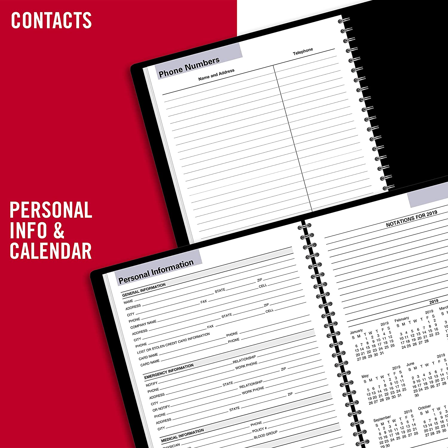 AT-A-GLANCE 2019 Weekly Planner, DayMinder, 7