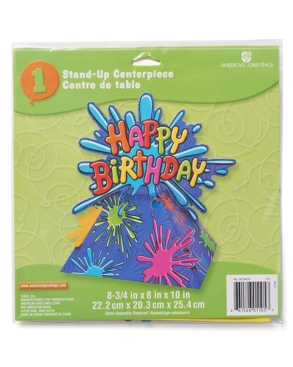 Amazon American Greetings Birthday Splat Table Decoration Party