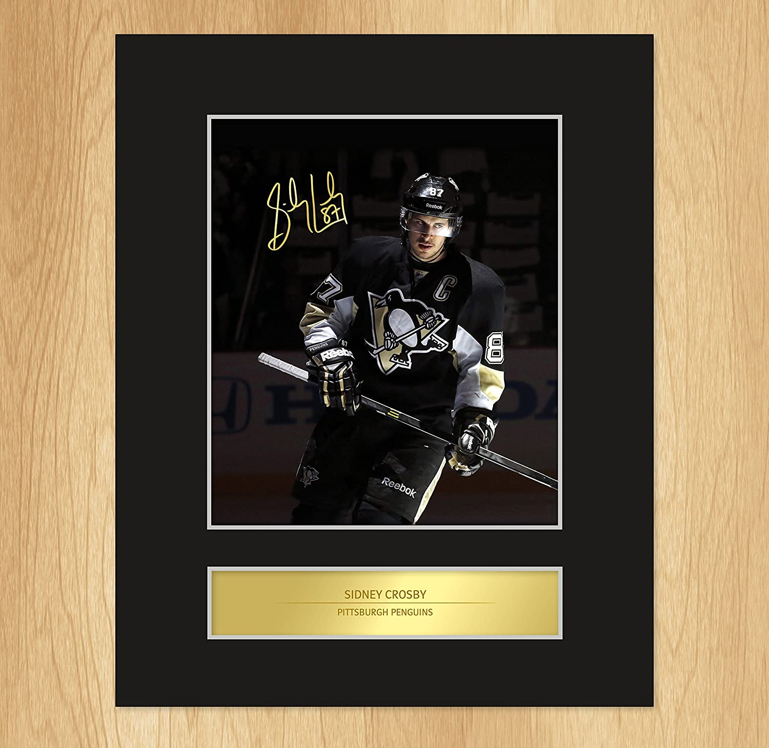 Amazon.de: Foto Sidney Crosby Pittsburgh Penguins, signiert, befestigt