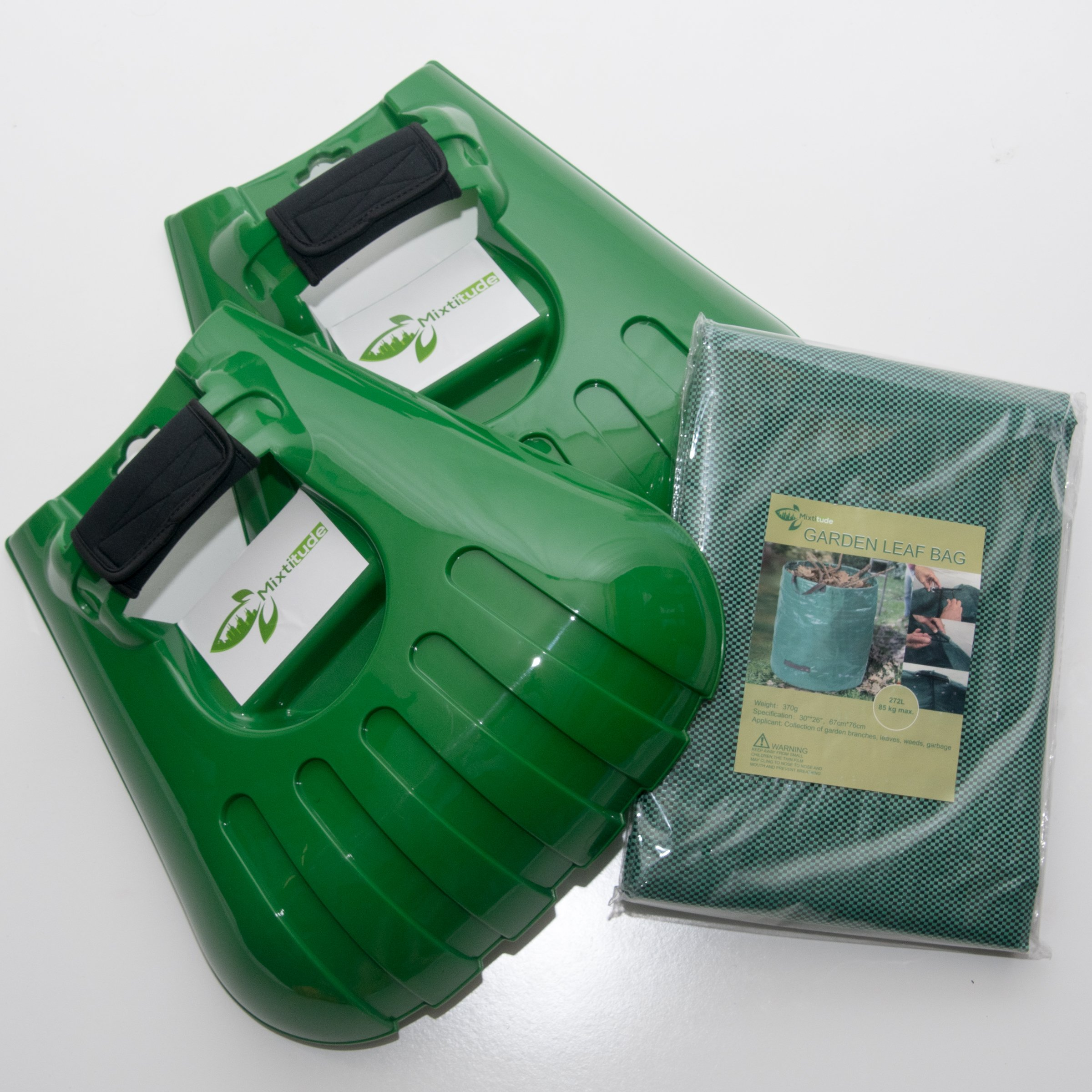 Mixitude Garden Hand Leaf Claw Scoops complete with Protective Wrist Pad and 72 Gallon Leaf Waste Bag by Mixtitude (Image #1)
