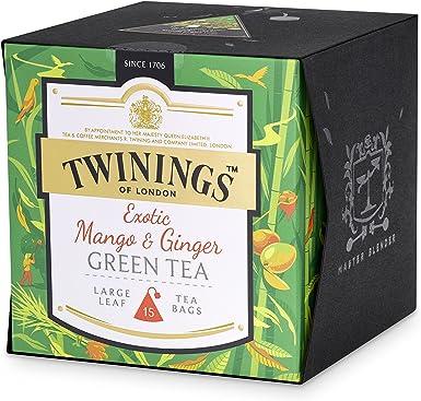Twinings Exotic Mango y té de jengibre verde, paquete de 4 (4 x 30 g): Amazon.es: Alimentación y bebidas