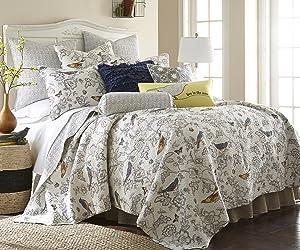 Levtex Mockingbird King Cotton Quilt Set