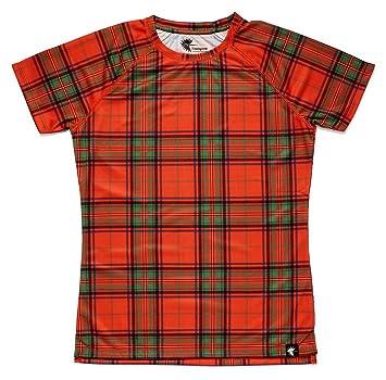 Camiseta Escocia Mujer, Manga Corta, Running, Gimnasio #ScottishRed Talla S