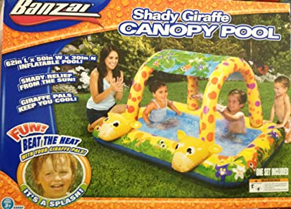 Amazon.com: Banzai jirafa toldo piscina – Shady divertido ...
