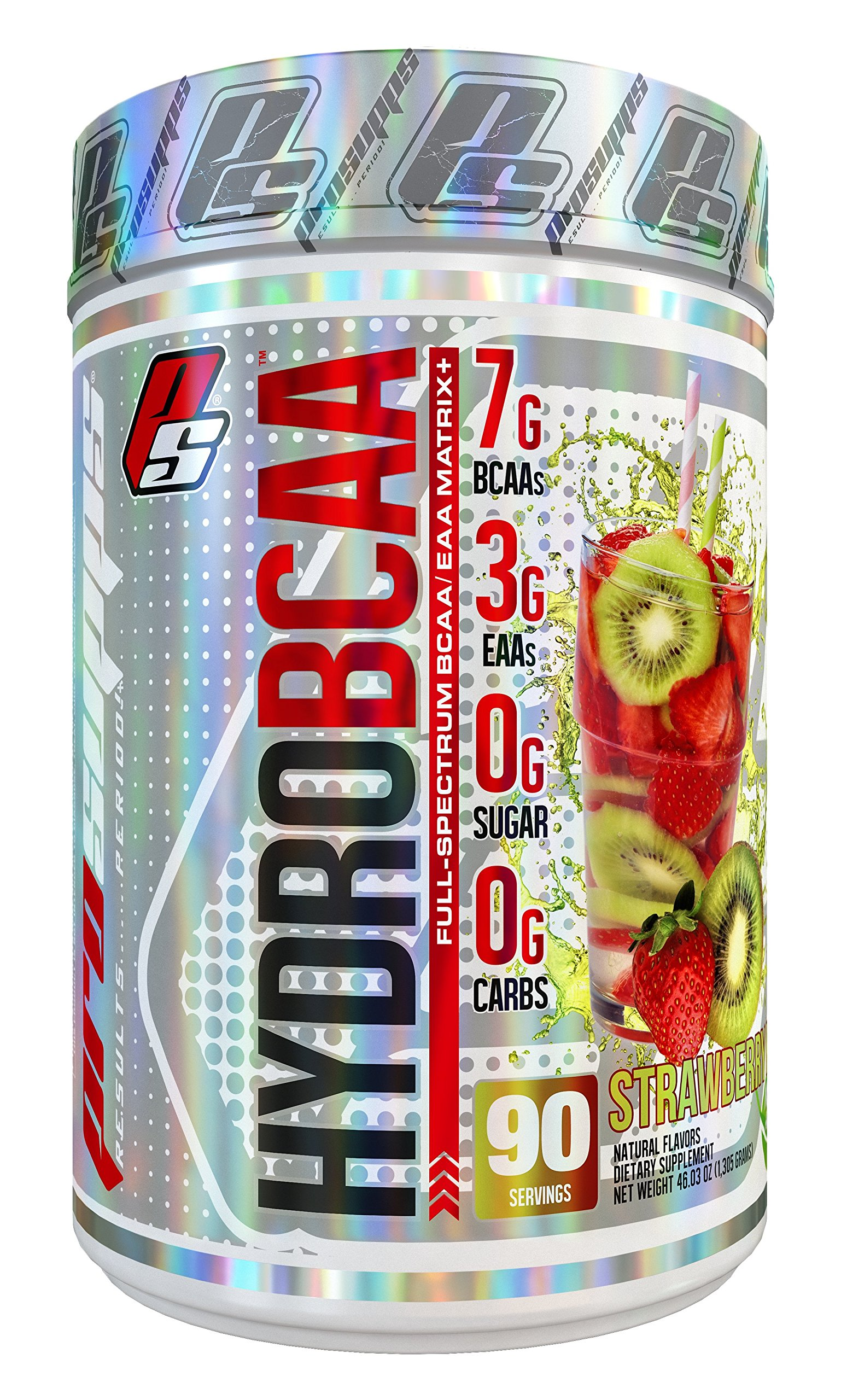 HydroBCAA BCAA / EAA Full Spectrum, 7g BCAAs, 3g EAAs, 0g Sugar, 0g Carbs, 90 Servings, 46.03 oz. (Stawberry Kiwi Flavor)