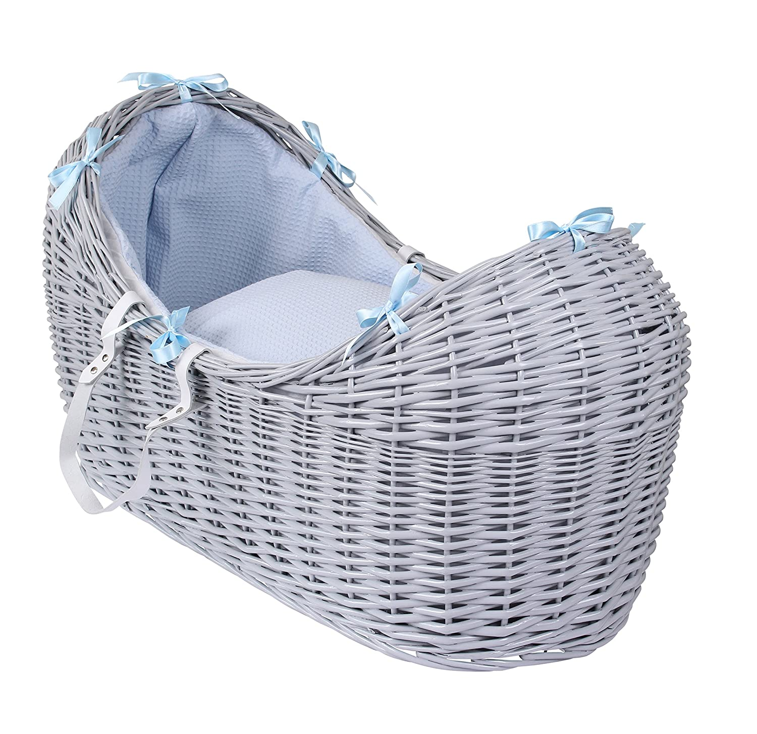 Clair de Lune Waffle Grey Wicker Noah Pod, Blue CL5538GBE