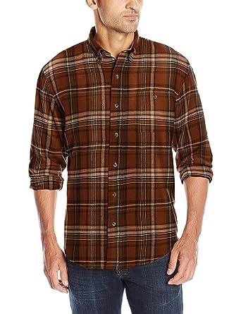 8b925d72e2 G.H. Bass & Co. Men's Fireside Flannel Long Sleeve Button Down Shirt at  Amazon Men's Clothing store: