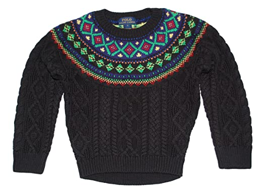 Amazon.com: Ralph Lauren Polo Girls Fair Isle Sweater: Clothing