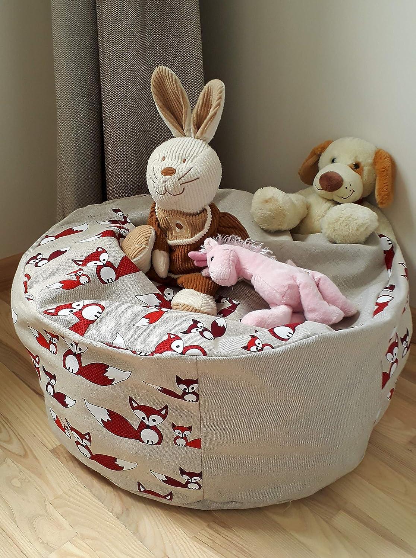 Amazon.com: Stuffed Animal Storage Bean Bag Chair for Kids ...
