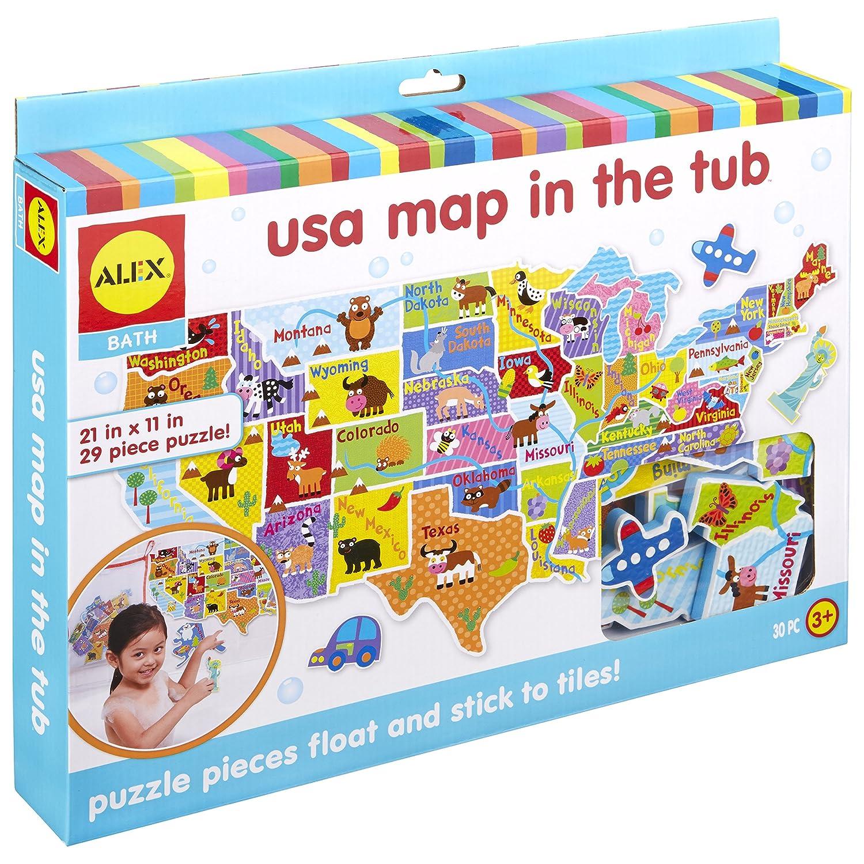 ALEX Bath USA Map in the Tub 890M