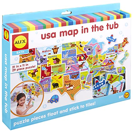 Amazon Com Alex Bath Usa Map In The Tub Toys Games