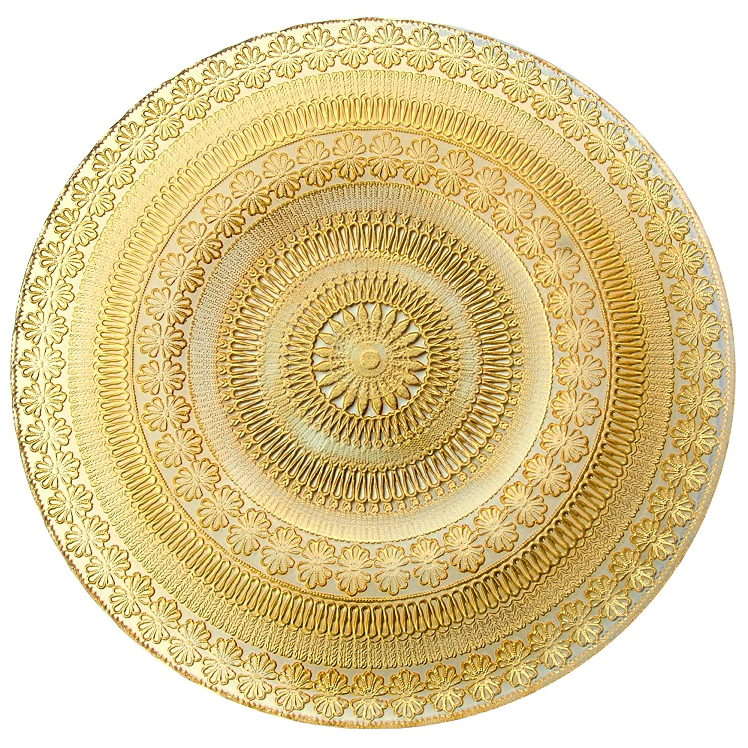 Red Pomegranate 4357-1 Set//2 Florence 13 Gold Charger Plates,