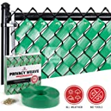 Chain Link Fence Weave (Emerald Green)