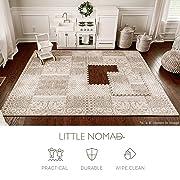 Little Nomad Baby Foam Play Mat Authentic Roam Free 4 x 6 Soft Interlocking Floor Tiles | Resembles an Area Rug | As Seen On Shark Tank Dusk Beige