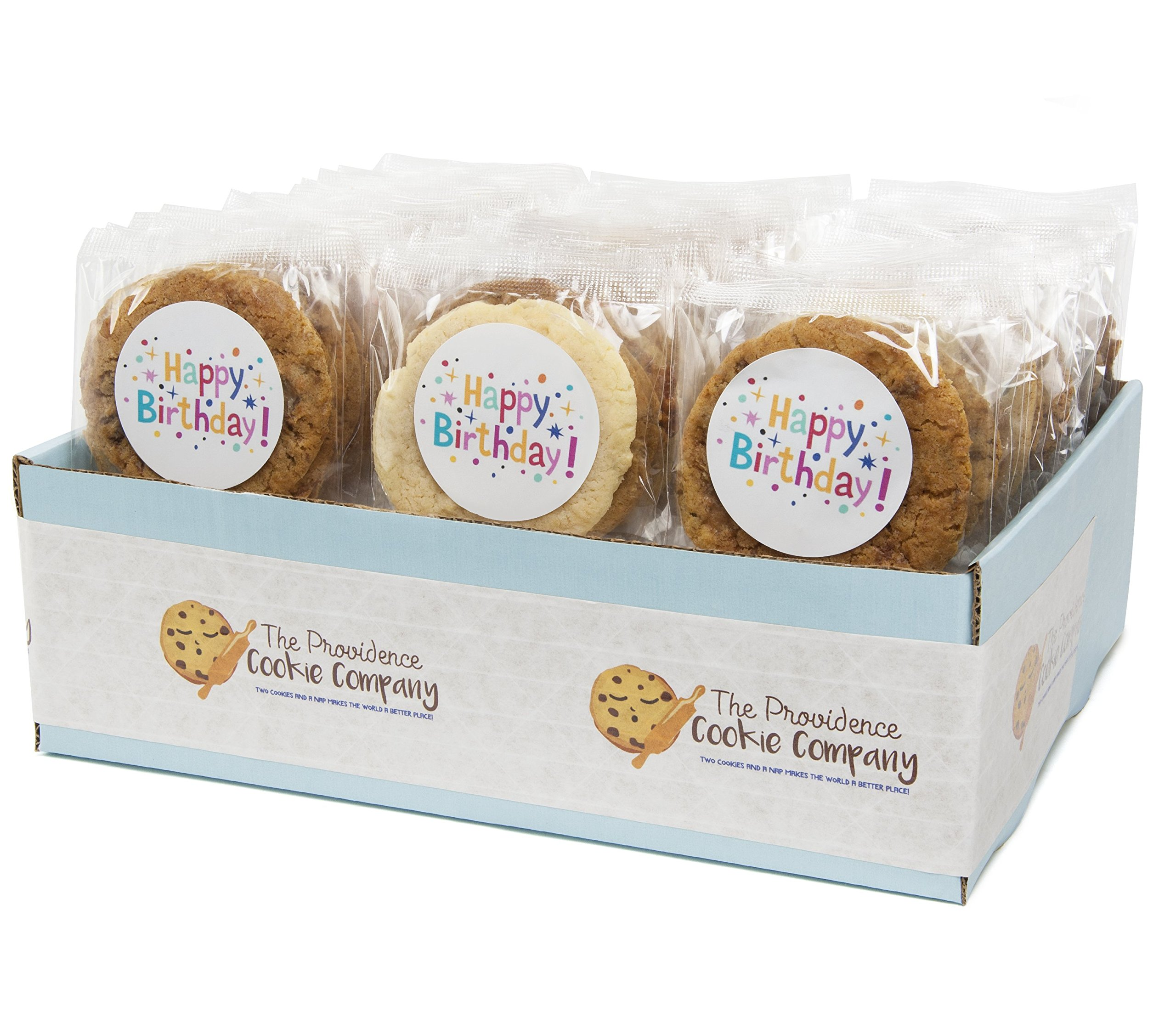 The Providence Cookie Company HAPPY BIRTHDAY GOURMET COOKIE GIFT choose 1, 2, 3 or 4 Dozen (1 Dozen) by The Providence Cookie Company llc (Image #1)