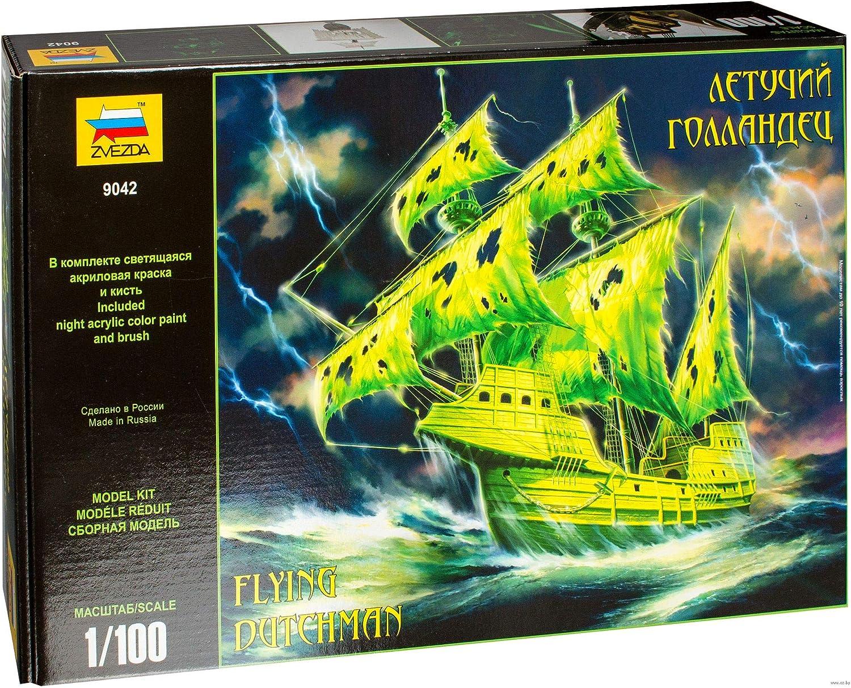 Zvezda Russian Model Ship Kit 14.5-inch Flying Dutchman Scale Model Kit Scale: 1/100 Plastic Model Kit