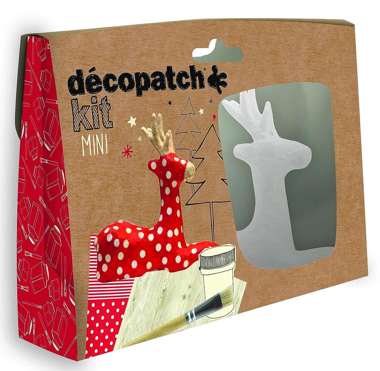 Decopatch, mini kit per renna di cartapesta Clairefontaine KIT018O