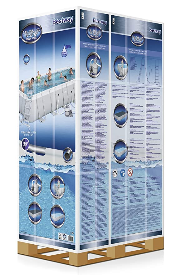 Bestway Best Way - Piscina Power Steel 732 x 366 x 132 cm + depuradora de Arena: Amazon.es: Jardín