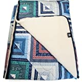 Yamalaya Neta Merino Wool Square Sleeping Bag with Breathable Cotton Shell, Multi-Colour