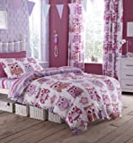 Catherine Lansfield Owl Single Duvet Set - Pink