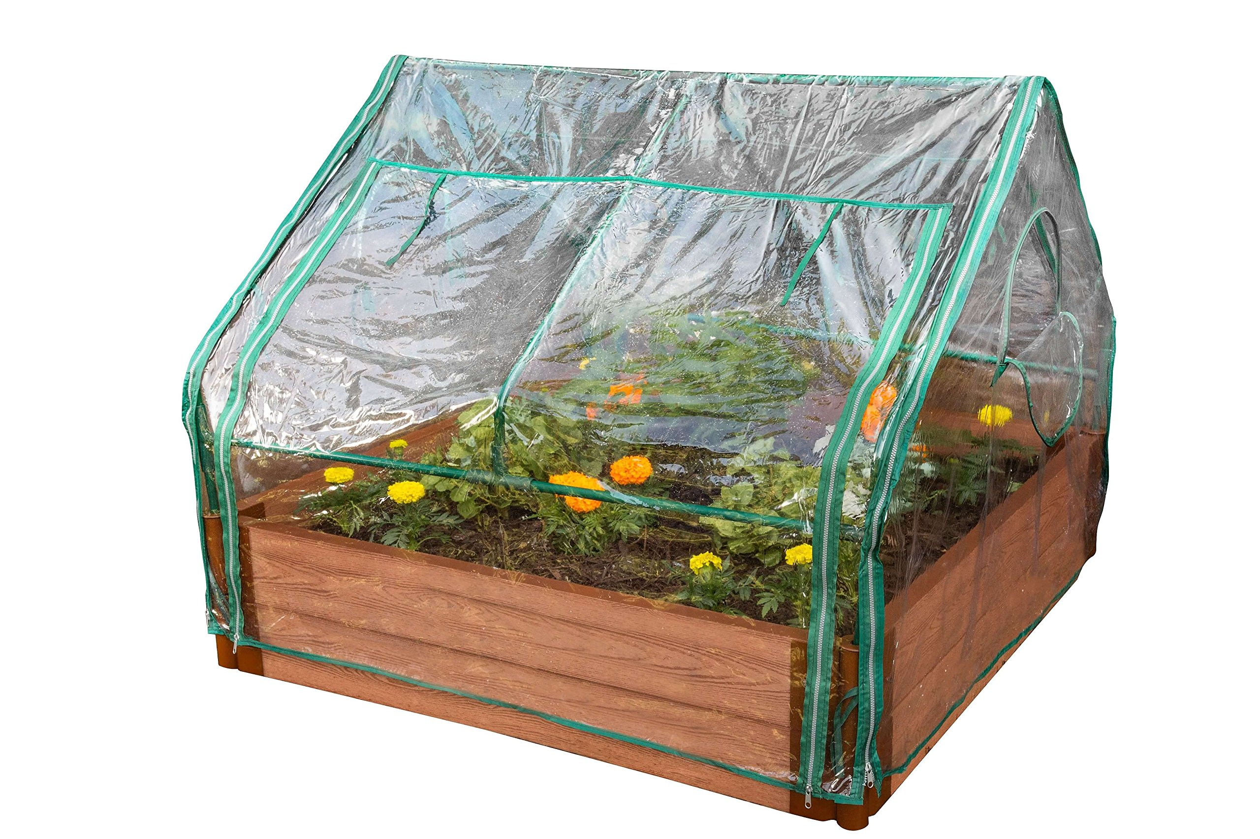 Frame It All Greenhouse, 4-Feet by 4-Feet by 36-Inch by Frame It All
