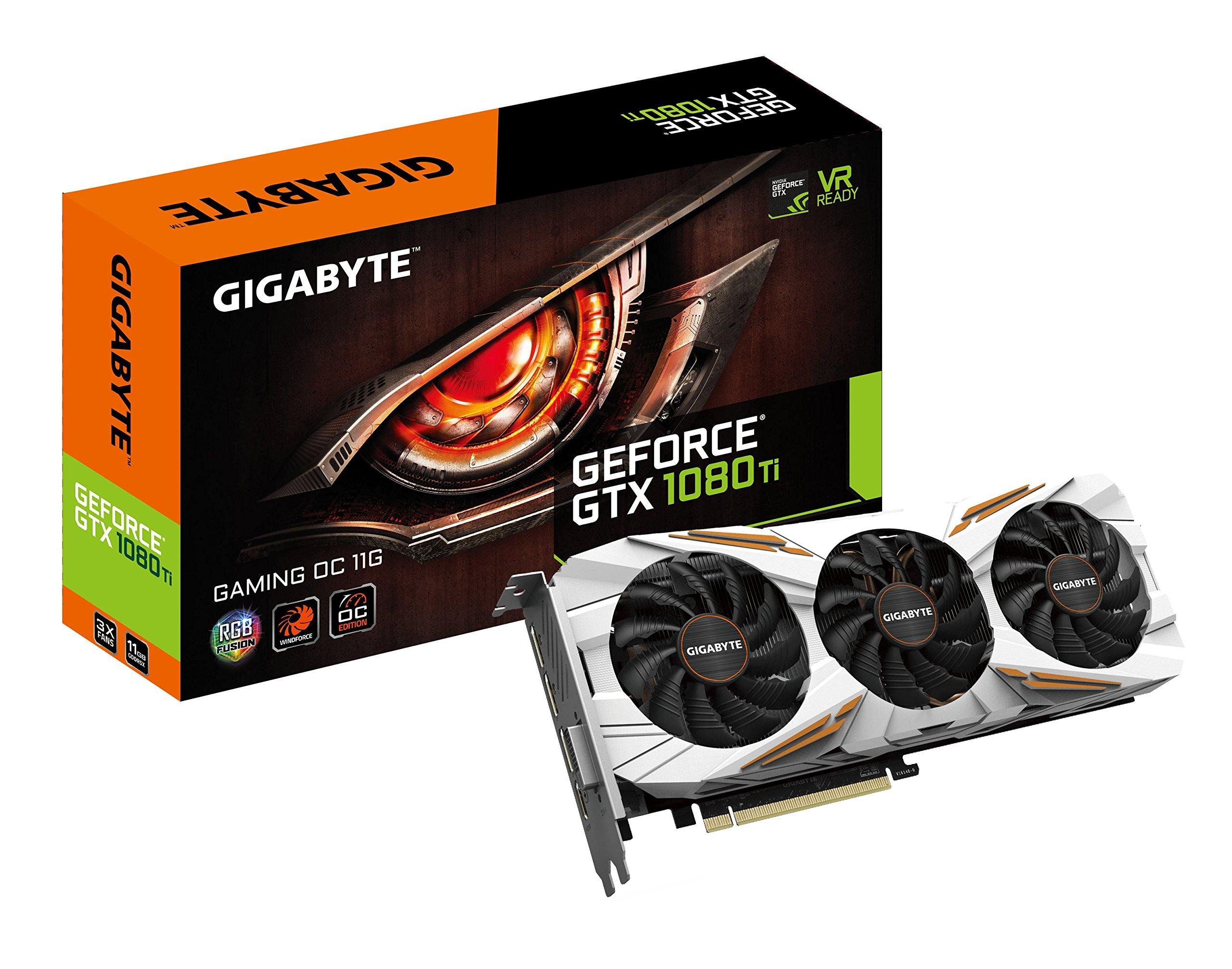 Gigabyte GeForce GTX 1080 Ti GAMING OC 11GB Graphic Cards N108TGAMINGOC-11GD by Gigabyte