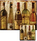 CounterArt Wine Samples Glass Cutting Board and Trivet Set
