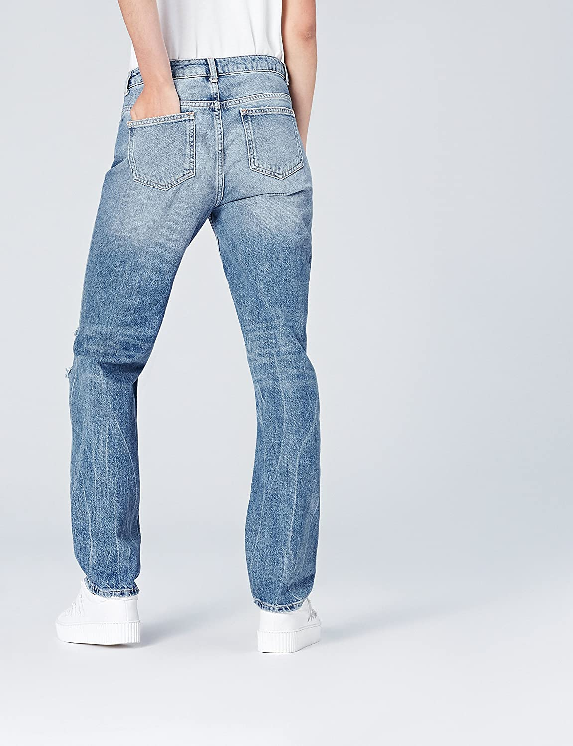 find Womens Skinny Mid Rise Ripped Jeans