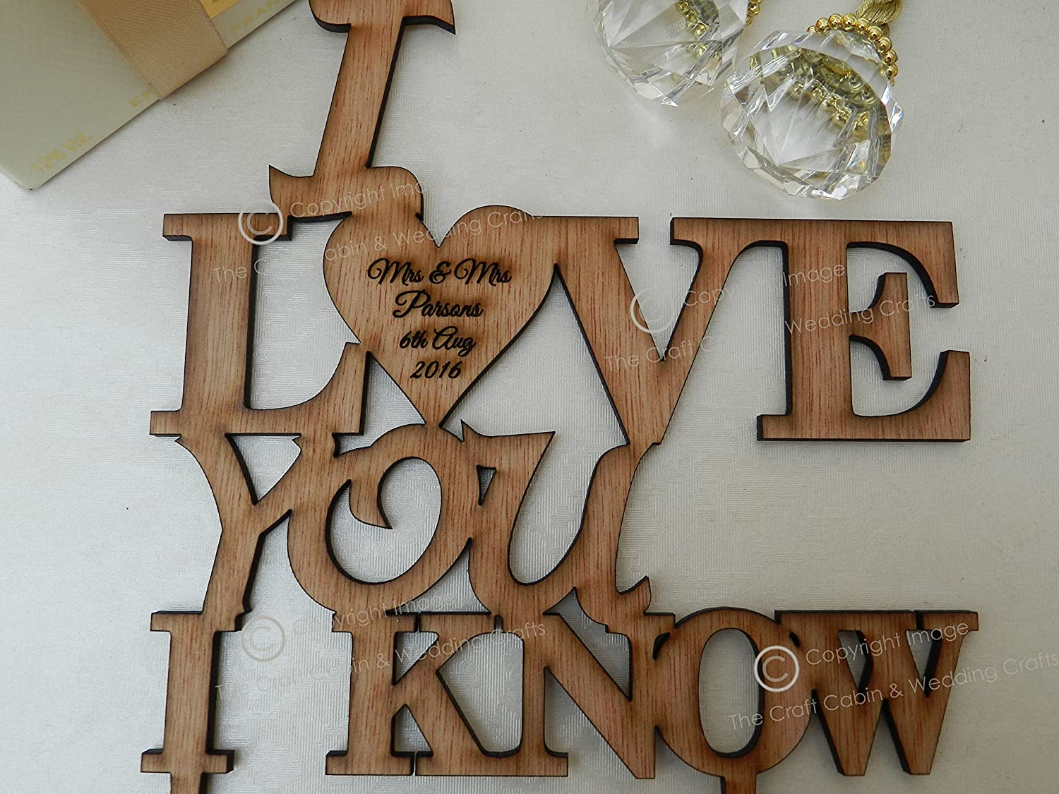 I Love You I Know Star Wars Quote Wooden Personalised Cake