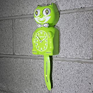 product image for Limited Edition! Lime Green CHARTREUSE Gentlemen Kit-Cat Klock® JEWELED Swarovski Crystals Cat Clock