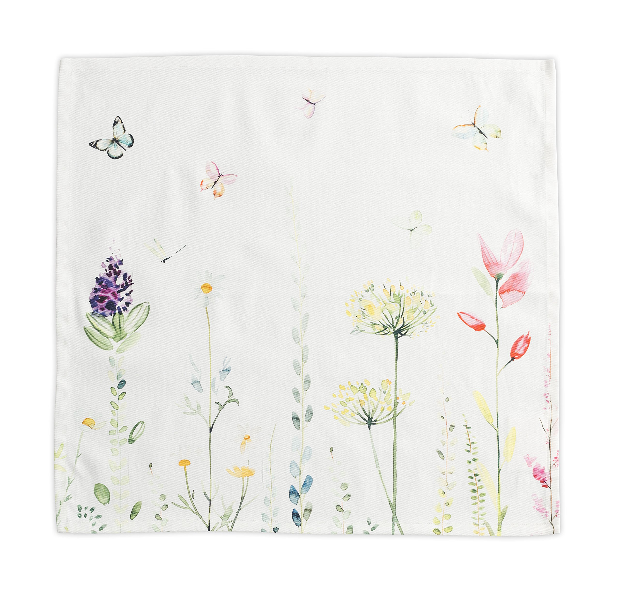 Maison d' Hermine Botanical Fresh 100% Cotton Set of 4 Napkins 20 Inch by 20 Inch
