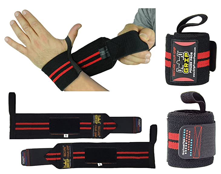 Deluxe Wrist Wraps 13 Long (1 Pair /2 Wraps) for WEIGHT LIFTING WRIST SUPPORT COTTON WRAPS