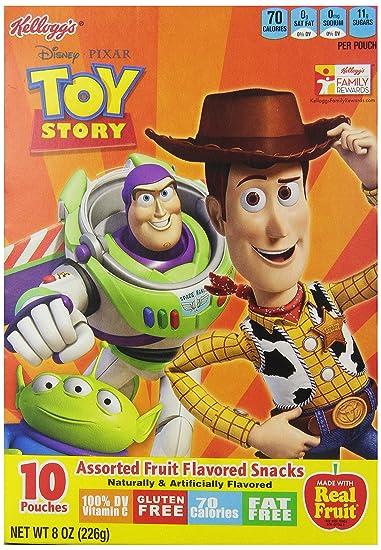 Amazon Com Kellogg S Disney Pixar Toy Story Fruit Snacks 10 Ct 8 Oz