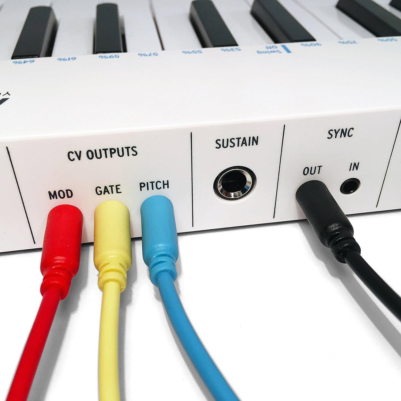 15//30//60//90//150cm 30cm, Morado Paquete de 5 Eurorack Modular Cables de Patch mono minijack de 3,5 mm