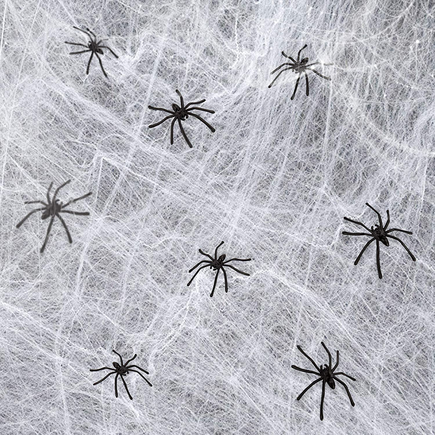 Prank Realistic Scary Spiders Toy for Kids Party Decorations obqo 150 Pieces Halloween Spooky Black Plastic Spiders for Halloween Party Decorations